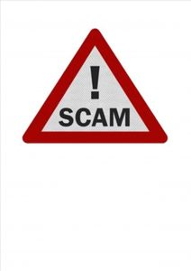 Scam warning image